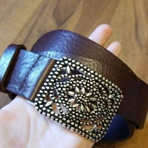 {Fossil} Belt with Silver Buckle